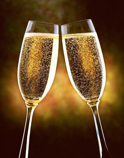 New Year's sparkling wine
