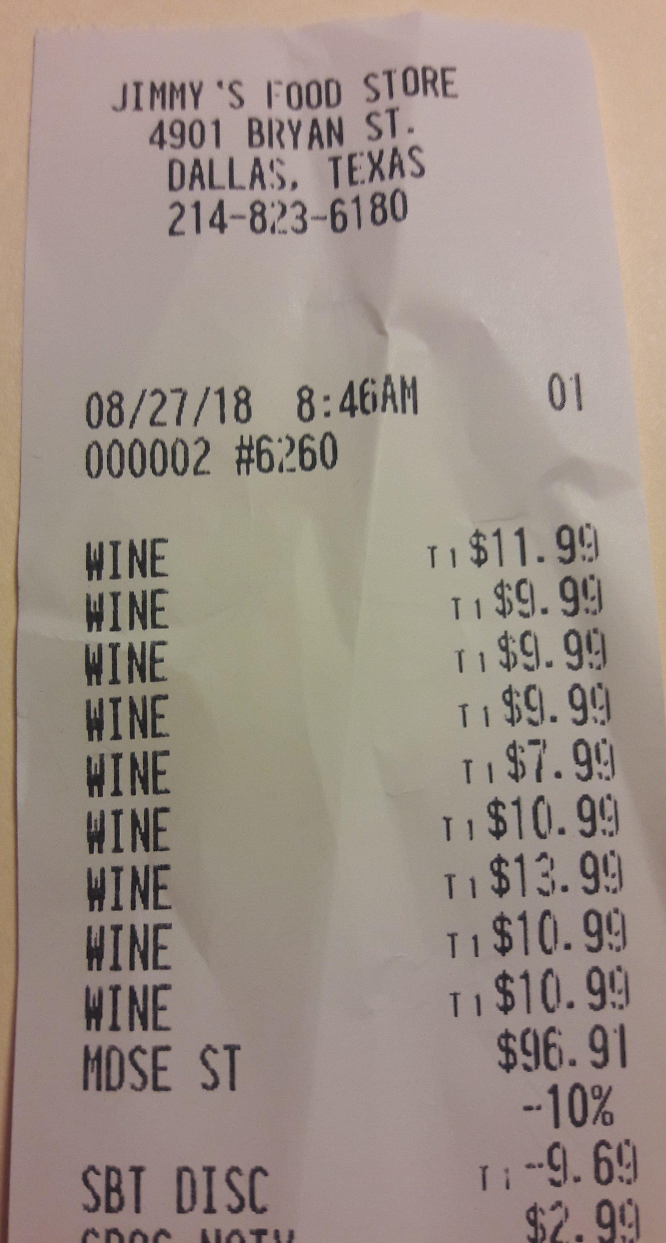 $10 wine