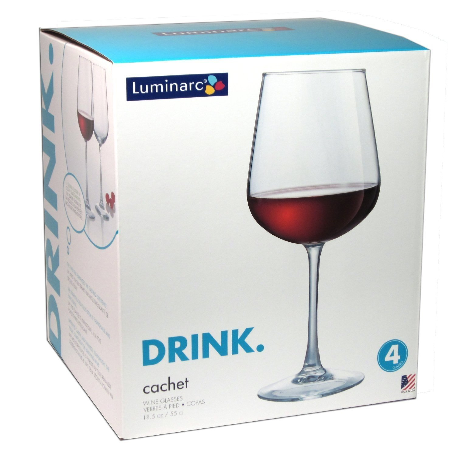 Luminarc wine glasses