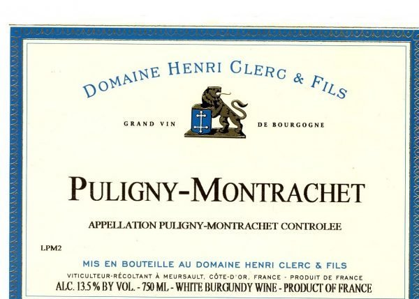Henri Clerc Puligny-Montrachet