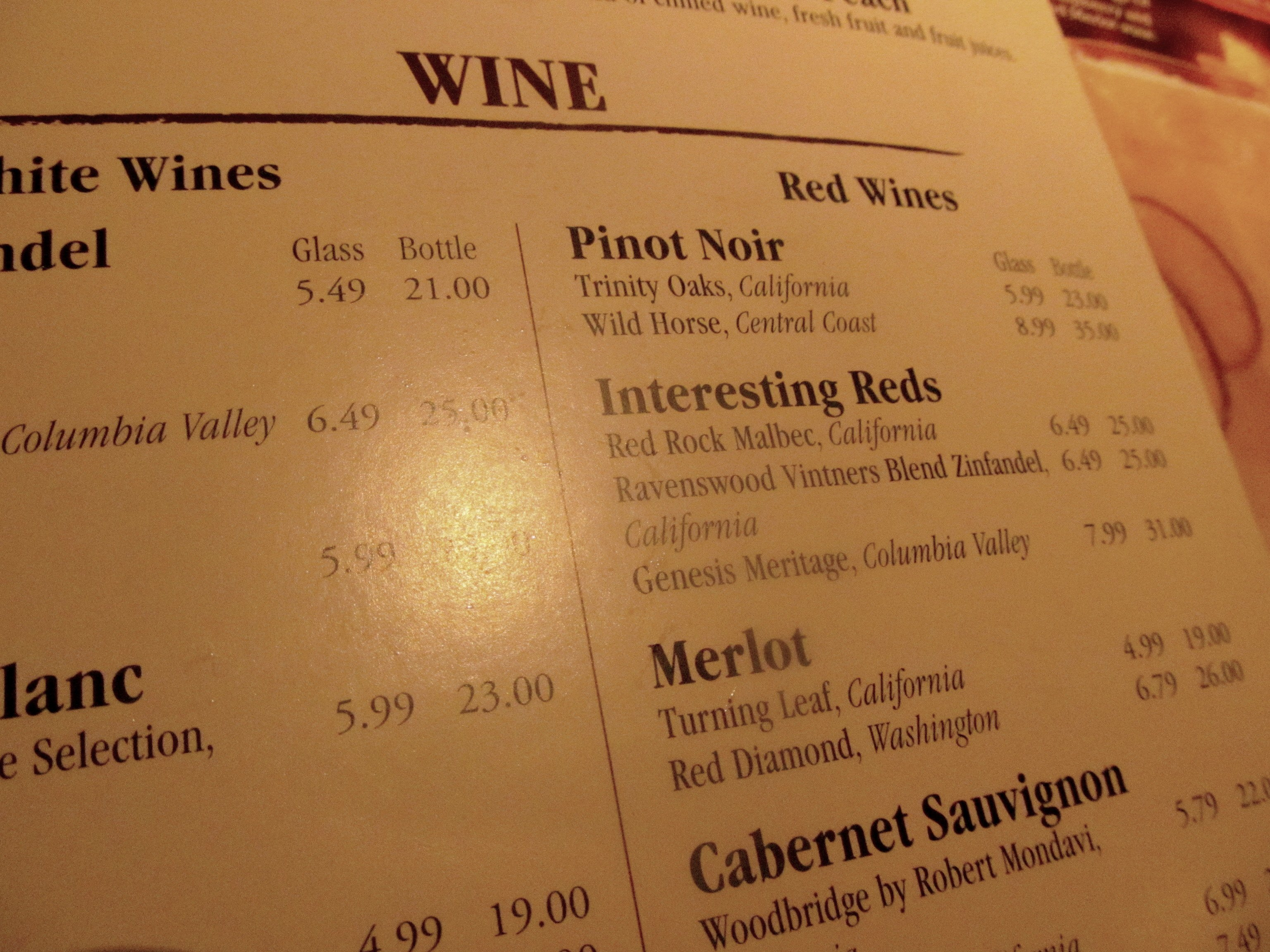 restaurant wine pricing